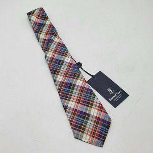Psycho Bunny Men's Multicolor Plaid Silk Tie NWT